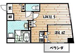 PIAGET[9階]の間取り