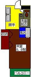 長野県松本市本庄1丁目の賃貸マンションの間取り