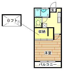 アパートメント ラ・ココ[1階]の間取り
