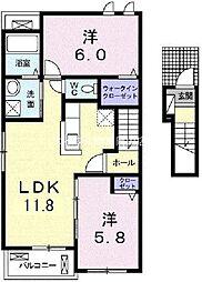 アルバータ瀬戸[2階]の間取り
