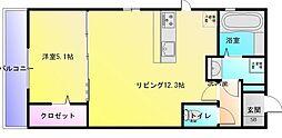 大阪府八尾市北久宝寺1丁目の賃貸アパートの間取り