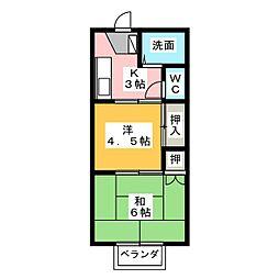 グレースB[2階]の間取り