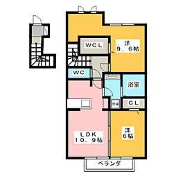 サングランジュ[2階]の間取り