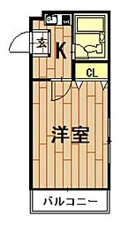 神奈川県川崎市中原区木月1の賃貸マンションの間取り
