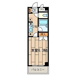 東京都八王子市小比企町の賃貸マンションの間取り