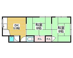 パープルマンション2号館[4階]の間取り