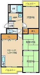 サンシャイン大津和[2階]の間取り