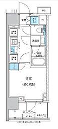 ザ・パークハウス浅草橋タワーレジデンス 2階1Kの間取り
