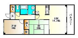 サンセール[1階]の間取り