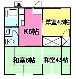 石川ハイツA[201号室]の間取り
