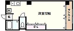 兵庫県芦屋市清水町の賃貸マンションの間取り