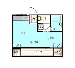 桜井ビル[201号室]の間取り