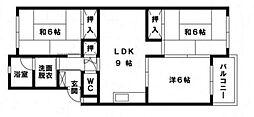 大池コーポラス[3階]の間取り