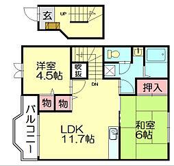 メゾンドセトル2[2階]の間取り