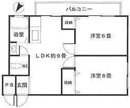 室町マンション1階Fの間取り画像