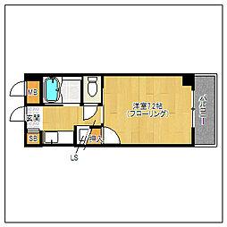 マクシーズ藤崎[201号室]の間取り