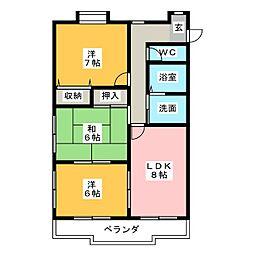 エクセル田幡[4階]の間取り