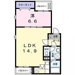 ピュアメゾン2[1階]の間取り