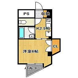 アイビーハイツ[3階]の間取り