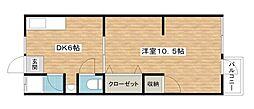 大協マンション[4階]の間取り