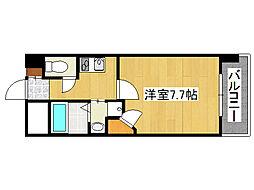 クラウンハイム北心斎橋フラワーコート[6階]の間取り