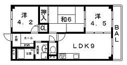 カーサフィオーレ弐番館[402号室号室]の間取り
