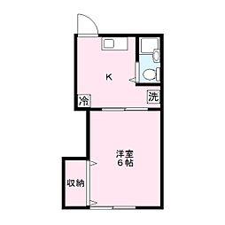 コーポナカヤマ[1階]の間取り