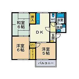 エトワールK[2階]の間取り