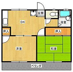 祇園コーポ[203号室号室]の間取り