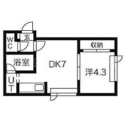 エクセル北円山[1階]の間取り