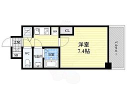 S-RESIDENCE江坂Eminence 12階1Kの間取り