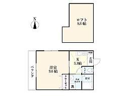 佐賀県佐賀市末広2丁目の賃貸アパートの間取り