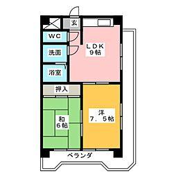 三光ビル[4階]の間取り