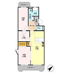 ラ・コンセール[4階]の間取り
