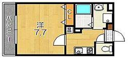 サンクスパレ桂西[2階]の間取り