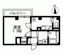 JR京浜東北・根岸線 大井町駅 徒歩14分の賃貸マンション 1階1Kの間取り