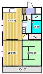 ラフィーヌ・池田5番館[4階]の間取り