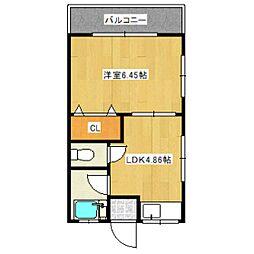 東京都世田谷区北烏山1丁目の賃貸アパートの間取り