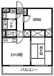 サンライズ大島[206号室]の間取り