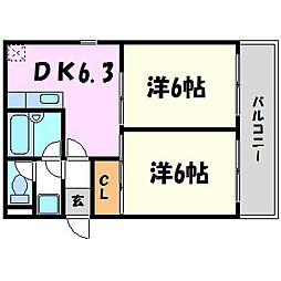 ロイヤルメゾン甲子園口III[2階]の間取り