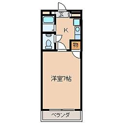 組坂ビルNo.5[104号室]の間取り