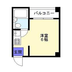 ウィン長居西[3階]の間取り