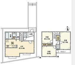 [一戸建] 神奈川県茅ヶ崎市小和田2丁目 の賃貸【/】の間取り