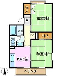 ドミール菅田[1階]の間取り