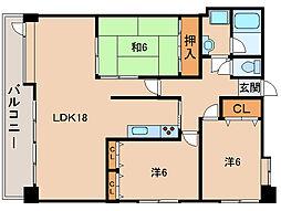 リオンガーデン古屋[2階]の間取り