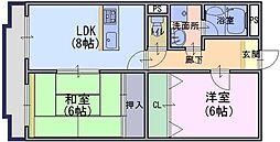 エトワール・サカモト[1階]の間取り