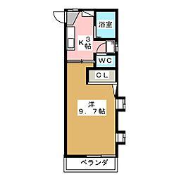 カーサ藤[1階]の間取り