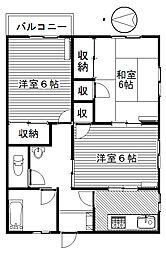 中央ビル[203号室]の間取り