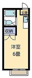 山本レジデンスE棟[215号室]の間取り