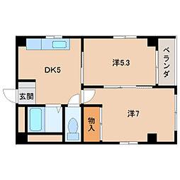 ヤマイチPLAZA大新[3階]の間取り